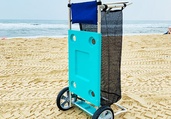 Folded Beach Cart